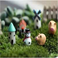 Miniature Dollhouse Gardening Crafts Ornaments Micro Landscape DIY Plant Flower Pot Decor
