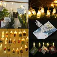 4.2M USB Battery Powered 40LED Photo Picture Peg Clip Fairy String Light Holiday Party Hanging Decor