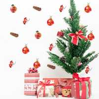 Christmas 2017 Funlife New Classic Stickers Party Decorating Peace fruit Bell Cartoon Creative