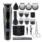 Discount pas cher DIGOO 16 IN 1 LCD Display Cordless Hair Trimmer 600mAh USB Rechargeable Electric Hair Clipper For Hair Beard Nose/Ear Hair Body Hair Trimmer