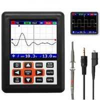 DANIU DSO338 Handheld Oscilloscope 30MHz Bandwidth 200M Sampling Rate 2.4 Inch IPS Screen 320*240 Resolution Technology Built-in 64M Storage Built-in 3000mah Lithium Battery