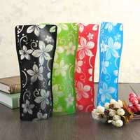 Colorful Unbreakable Flat Foldable Reusable Home Office Shop Decor Flower Vase