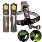 Meilleurs prix Sofirn SP40 XPL 1200LM USB Rechargeable LED Headlamp L-shape 18350/18650 Flashlight with Magnet Tail Ultra Bright Outdoor Camping Work Light
