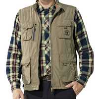 Mens Plus Size Fleece Thick Warm Winter Outdoor Utility Vest