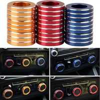 3pcs/Set Cars Alu Decorative Knob Ring Air Conditioning Knob Ring for New Sagitar 2012-2014 Golf 6