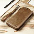 Meilleurs prix Men Genuine Leather Vintage Card Holder Wallet Phone Bag