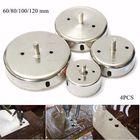 Offres Flash 4pcs 60-120mm Diamond Hole Saw Drill Bit Set Tile Ceramic Glass Porcelain Marble Drill Bits