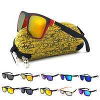 KDEAM KD156 Polarized Sunglasses Men Bike Bicycle Cycling Eyewear Driving Reflective Coating UV400 With Case