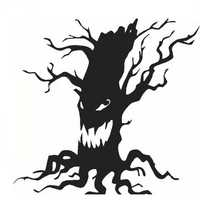 Creative Halloween Ghost Tree PVC Waterproof Wall Sticker Removable Vinyl Art Mural Decoration Stickers Environmental Protection Halloween Wall Sticker Window Home Decoration Decal Decor