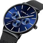 Discount pas cher CRRJU 2155 Men Sapphire Blue Steel Quartz Watch