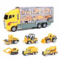 7PCS Large Construction Truck Excavator Digger Kid Diecast Model Toy Demolition Vehicle Car
