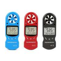KT-300 Mini Multipurpose Anemometer Digital Anemometer LCD Wind Speed Temperature Humidity 3 in 1 Wind Speed Meter With Calibration Function