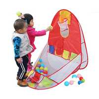 96 x 70cm Kids Educational Puzzle Game House Multi-Function Shot Play Folding Tent Kids Toy Outdoor Indoor Shooting Games