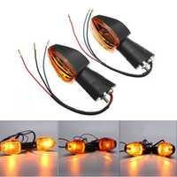 Pair Turn Signal Light Indicator For Honda CB400 CB1300 CBR 600 1000 RR F4 F4i