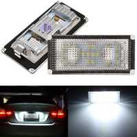 Pair 18 LED Number License Plate Light Lamp For BMW E66 7000K White Replacement