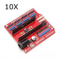 10Pcs Multi-Function Funduino Nano Shield Nano Sensor Expansion Board
