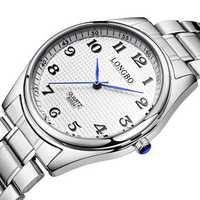 LONGBO 80024 Casual Style Steel Strap Couple Wrist Watch