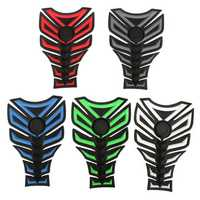 3D Rubber Motorcycle Modified Decal Sticker Gas Oil Fuel Tank Pad Protector