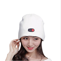 Unisex Battery Electric Heated Warm Hat Winter Knitted Hat Skiing Cycling Thermal Cap