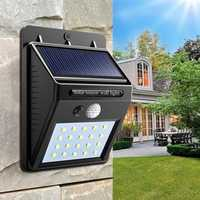 Solar Power 20 LED PIR Motion Sensor Wall Light Waterproof Outdoor Path Yard Garden Security Lamp