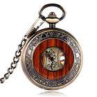 Cheap Discount Deffrun Vintage Wooden Design Hand Wind Mechanical Watch