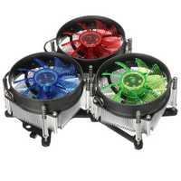 LED CPU Cooling Fan Cooler Heat Sink Radiator For Intel LGA 1150/1151/1155/1156 Series