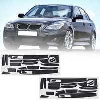 Carbon Fiber Pattern Car Interior Dashboard Sticker Wrap Decoration Left Hand Driving for BMW 5-Series E60 2003-2010
