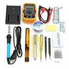Les plus populaires 110V/220V 60W Adjustable Temperature Welding Solder Soldering Iron Multi Meters Toolkits