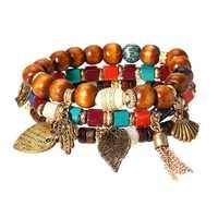 Charm Multilayer Tassel Bracelets Leaf Anchor Bracelet
