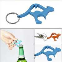 Animal Kangaroo Beer Bottle Cap Convenient Opener Keyring Keychain