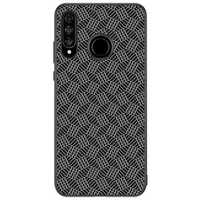 NILLKIN Slight Synthetic Fiber Plaid Magnetic Adsorption Protective Case for HUAWEI P30 Lite