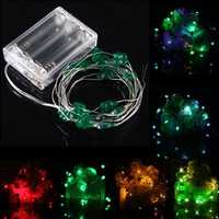 2M 18 LED Battery Operated Xmas Four leaf Clovers String Fairy Lights Party Wedding Christmas Decor