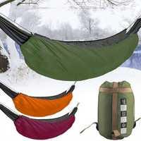 Camping Hammock Underquilt Outdoor Winter Down Warm Sleeping Bag Portable Folding Hammock Cover