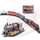 Meilleurs prix Classic Electric Smoking Assembling Track With Sound Steam Train For Kids Educational Gift Toys