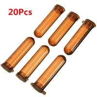 20Pcs 5mL Round Bottom Centrifuge Tube Graduated Brown Polypropylene EP Tube
