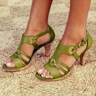 Les plus populaires Large Size Women explosion models Euramerica Heeled Sandals