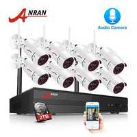 ANRAN 1080P 8CH NVR Audio Record Outdoor Night Vision CCTV Camera Video Surveillance System