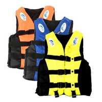 Life Jacket Adult Swimming Polyester Foam Life Jacket Vest Whistle Prevention Flood Waterproof-L