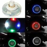 13 Mode Solar Energy LED Motorcycle Car Auto Flash Wheel Tire Valve Cap Neon Light Lamp