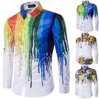 Offres Flash Men Casual Splash-ink Printing Shirts