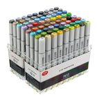 Meilleurs prix 72 Colors Mark Pen Design Paint Sketch Markers Drawing Soluble Pen Cartoon Graffiti Art Markers Pens