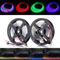 1M Waterproof IP67 WS2812 WS2812B RGB 30 LED Strip Light Individually Addressable 5V