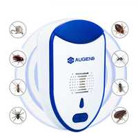 AUGIENB 2 PCS Ultrasonic Electronic Plug in LED Light Effective Mosquitoes Mice Insect Bed Bug Control Pest Repeller