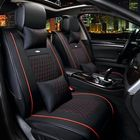 Les plus populaires 10pcs PU Leather Car Seat Cover 5 Seat Front and Rear Seat Cover Set Full Surround Needlework
