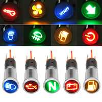 12V 24V 36V Metal 8mm LED Dash Panel Warning Light Bulb Indicator Lamp Car Boat Van