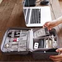 Women Men Multi-function Data Cable Storage Bag