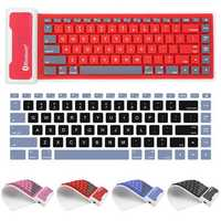 Waterproof Flexible Silicone Wireless bluetooth Mini Keyboard for Cell Phone Tablet
