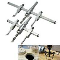 Adjustable 30-130mm/30-200mm Circle Hole Saw Drill Bit Cutter Kit DIY Tool