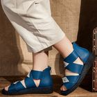Promotion Handmade Genuine Leather Flat Sandals