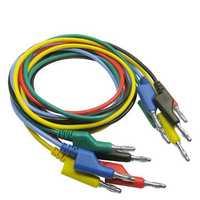 DANIU P1036 5Pcs 1M 4mm Banana to Banana Plug Test Cable Lead for Multimeter Tester 5 Colors